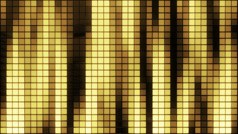 Neon Tiles Wall Light 4K - Vertical Lines - Gold Animation