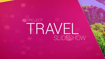 Travel Slideshow After Effects Templates