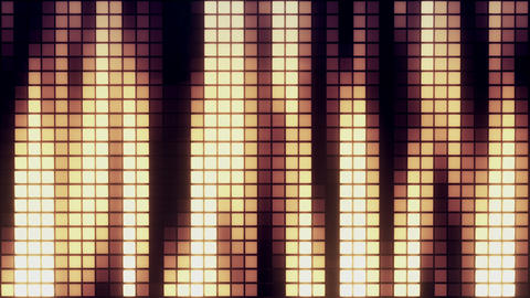 Neon Tiles Wall Light 4K - Vertical Lines - Warm Color Animation