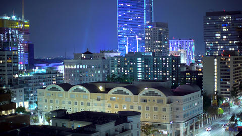 View of Downtown Los Angeles buildings Footage
