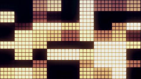 Neon Tiles Wall Light 4K - Random Square - Warm Color Animation