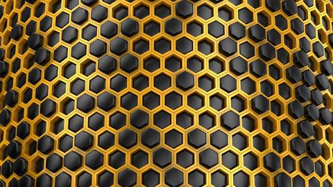 Background of Hexagons CG動画素材