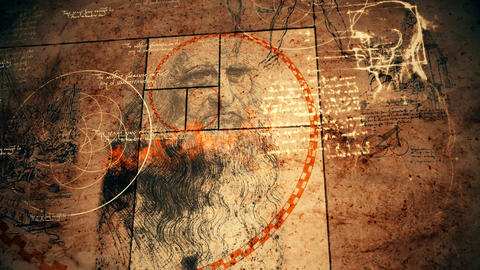 Volumetric Code Da Vinci Drawing Animation