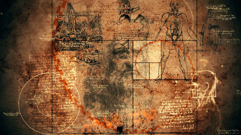 Multidimensional Code Da Vinci Drawing Animation