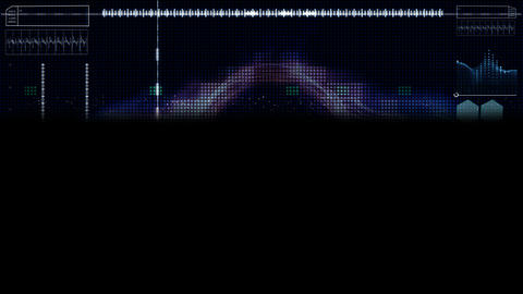 Hi-tech digital abstract background with information new... Stock Video Footage