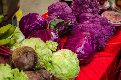Vegetable display - Organic フォト