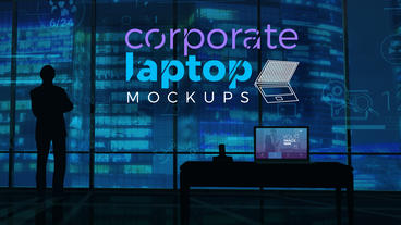 Corporate Laptop Mockups After Effects Template