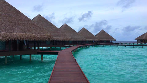 MALDIVES WATER BUNGALOWS 4k 画像