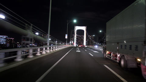 Tokyo seen from the car Filmmaterial