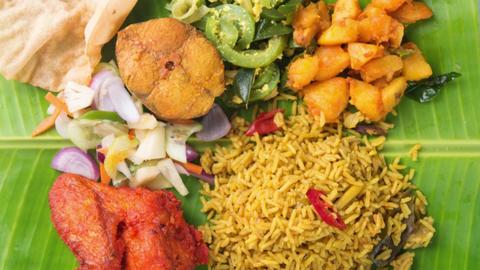 Indian biryani mixed rice Footage