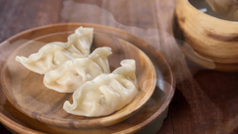 Delicious Chinese Meal Dumplings Footage