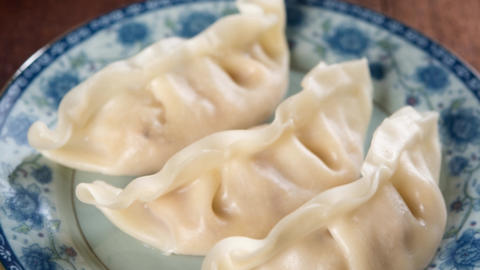Chinese dish steamed dumplings Footage