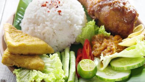 Popular Indonesian local food Footage