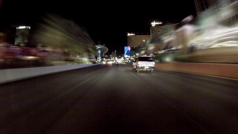 Driving On Las Vegas Strip stock footage