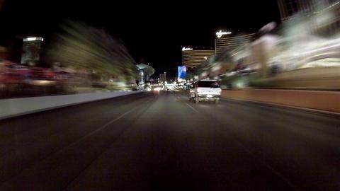 Driving On Las Vegas Strip stock footage