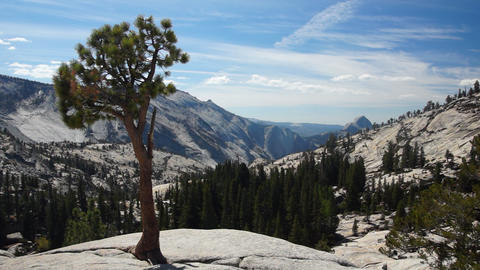 Olmsted Point, Yosemite, USA Stock Video Footage
