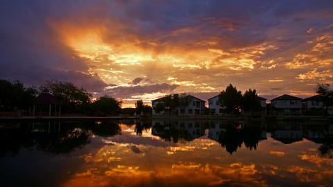 Sunrise on lake Footage