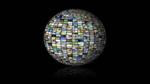 Multimedia Globe 01 Stock Video Footage