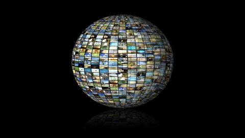 Multimedia Globe 01 CG動画素材