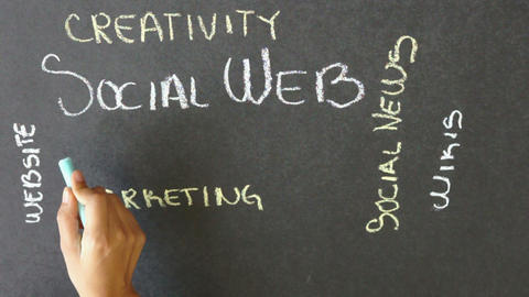Social Web Time Lapse Stock Video Footage