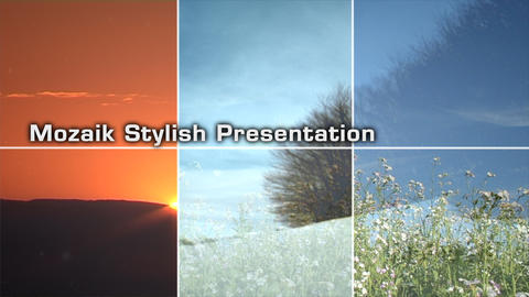 2D Mosaik Stylish Presentation - After Effects Template After Effects Template