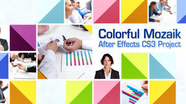 Colorful Mozaik - After Effects Template After Effectsテンプレート