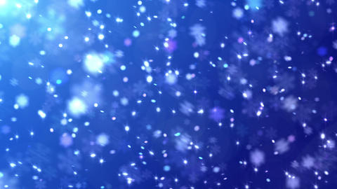 Defocus Light Snow BBS 3 HD Stock Video Footage