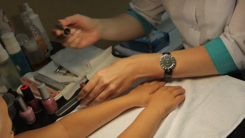 cosmetic fingers Stock Video Footage