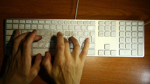 keyboard men hands Stock Video Footage