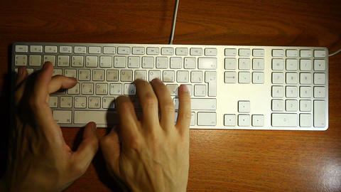 keyboard men hands Stock Video Footage