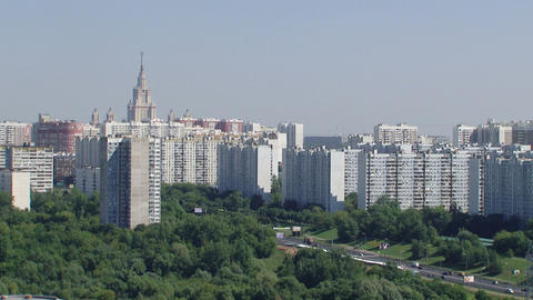 moscow new building 01 Stock Video Footage