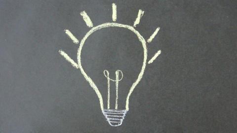 Idea Light Bulb Stock Video Footage