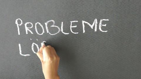 Probleme und Lösungen Stock Video Footage