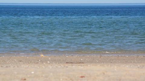 Kayak And Ocean Stock Video Footage