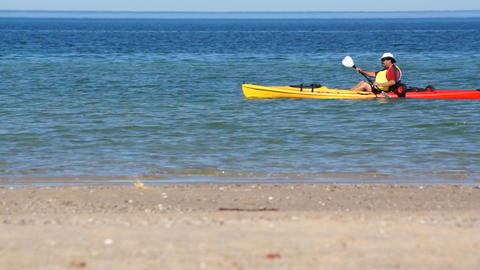 Kayak And Ocean stock footage