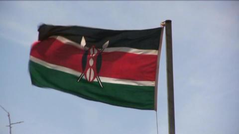 Kenya flag Stock Video Footage