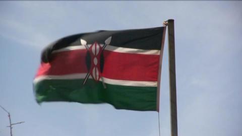 Kenya flag Footage