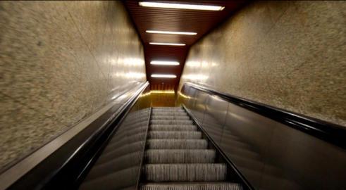 Escalators Stock Video Footage