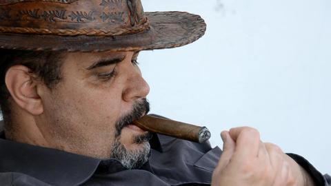 smoking man Stock Video Footage