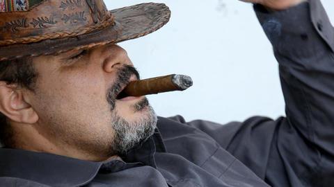 smoking man Footage
