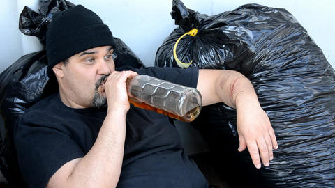 drunk man Stock Video Footage