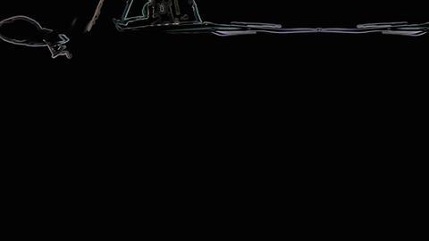 Car mini animation Stock Video Footage