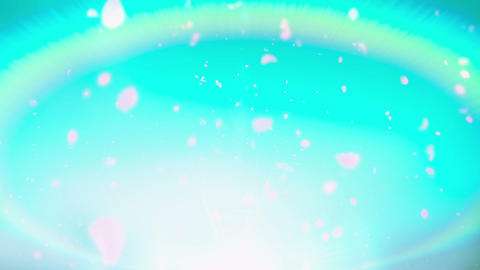 Cheery Blossom Rainbow 01F Stock Video Footage