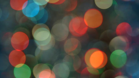 Celebration Lights In Bokeh stock footage