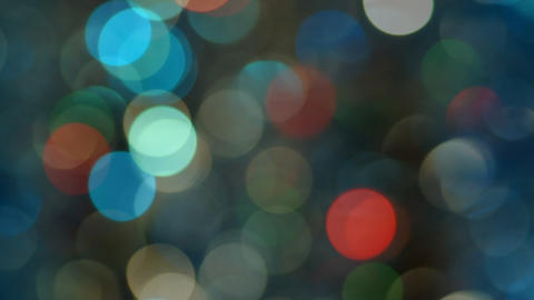Celebration Lights In Bokeh Stock Video Footage