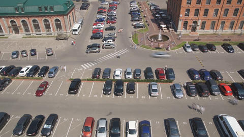 Car Parking In Big City Stock Video Footage