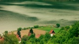 Cinematic Look Of Danube River And Houses stock footage