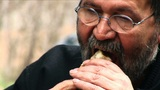 Senior Bearded Man Eating stock footage