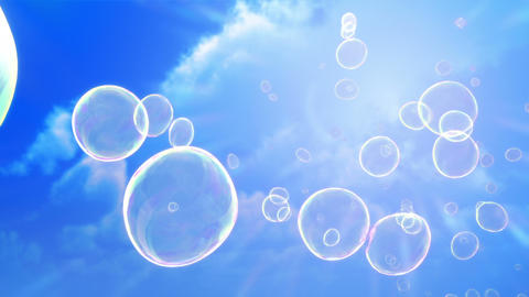 Soap Bubbles Sky Background (Loop) Animation