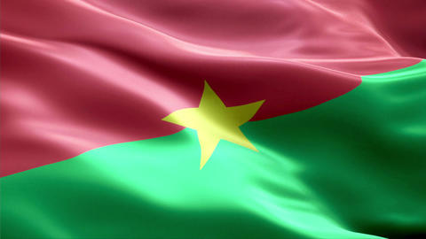 Flag Burkina-Faso Animation
